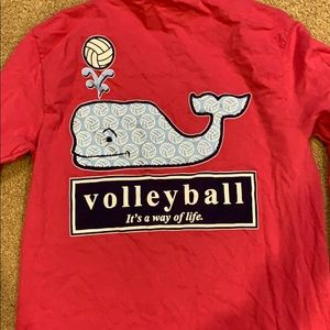 Pink Volleyball Vineyard Vines Inspired shirt